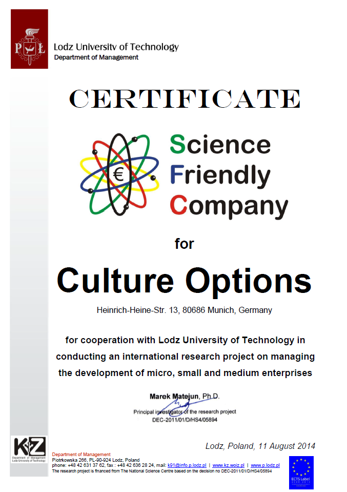 Science Friendly Company